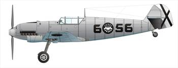 WWII GERMAN FIGHTER Bf 109 aka Me 109