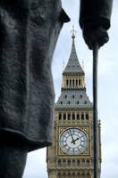 Big Ben and Churchill's Statue