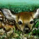 """Baby Fawn and Lilies of the Valley"" by tanyabond"