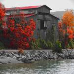"""Boat House in Fall"" by MattBoes"