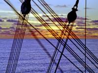 South Pacific Sunset Through the Rigging of Mallor