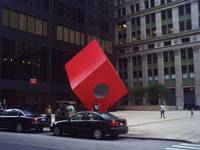 Red Cube in New York City