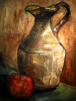 Earthen jug with Apple