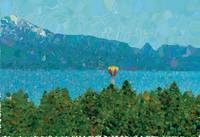 Ballon-bobbing on Lake Tahoe