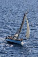 Sloop. Sailing in the Atlantic Ocean