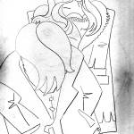 """Depressed-Burned B/W-Sketch-Serie NY"" by HomeART-Best-Choices"