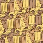 """coffee waiter tessellation"" by nscallfittura"