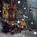 """Times Square in the snow."" by BenjaminEdwards"