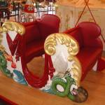 """Red Merry Go Round Bench Seat"" by MargaretElaine"