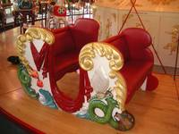 Red Merry Go Round Bench Seat