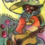 """The Travelling Guitarist"" by Prestonart"