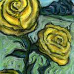 """Field of Yellow Roses"" by Prestonart"