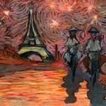 """""""Biking in Paris"""" by Prestonart"""