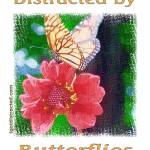 """Distracted by Butterflies 04167 Impasto Print"" by quotes"