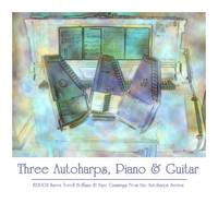 Three Autoharps, Piano, Guitar Poster