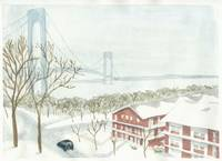 Verrazano Bridge in Winter