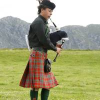 Piper, Arisaig Highland Games Art Prints & Posters by Kate Johnson