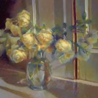 Yellow Roses Morning Light Art Prints & Posters by Cathy Locke