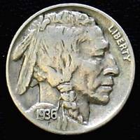 1936 Indian Head nickel