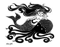 Mermaid on Octopus (B&W)
