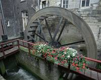 Waterwheel in Maastricht, The Netherlands