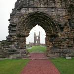 """Ruin of St. Andrews Cathedral, Scotland"" by jaredjared"