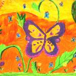 """Evelyn Li  5- Butterfly"" by sabahkinderart"