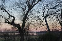 Lake Lewisville at Sunset - late winter