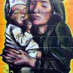 """Graffiti: Mother and child"" by abraxas35"