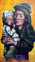 Graffiti: Mother and child