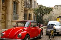 Shiny red bug in Avignon