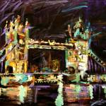 """London Tower Bridge at Night"" by GinetteCallaway"