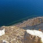 """Nevada lake water looking over a cliff"" by shana"