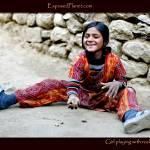 """Girl playing with rocks, Phakding, Nepal"" by ExposedPlanet"