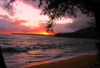 sunset of Kauai