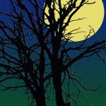 """Tree silhuette with full moon"" by Chatterbox"