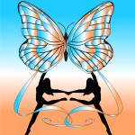 """""""Dancing Girls with Butterfly"""" by Chatterbox"""