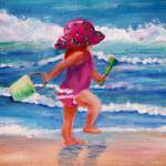 """little girl by the ocean"" by ExhaleDesignsCollection"
