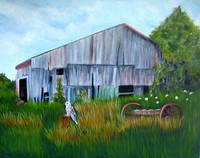 Old Barn and Hawk