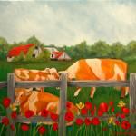 """cows and barns"" by Barbara"