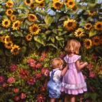 """In a Sunflower Garden"" by mariewitte"