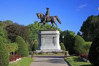 George Washington Statue In Boston Public Gardens
