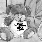 """Teddy Love charcoal"" by Chatterbox"