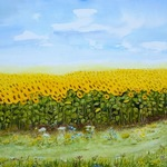 """sunflower field"" by lorecolore"