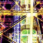 """""""Eiffel Tower Girders Hot yellow"""" by LeslieTillmann"""