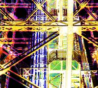 Eiffel Tower Girders Hot yellow