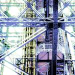 """Eiffel Tower Girders Pastel Blue"" by LeslieTillmann"