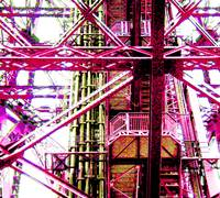 Eiffel Tower Girders Red
