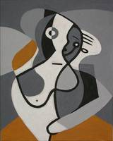 Cubist mother with child