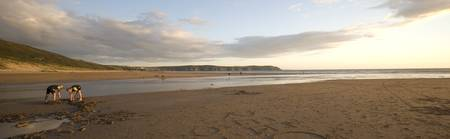 A family day out; Woolacombe; Devon